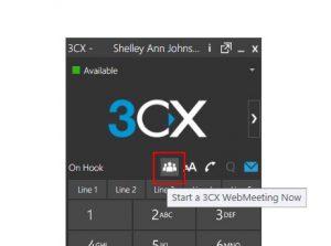 3cx webmeeting start