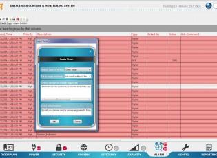 Alarm management in datacenter
